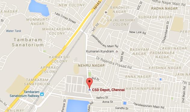 CSD Chennai address map