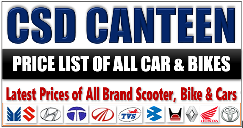 Latest All Brand of CSD Car Prices March 2018 – Delhi Depot