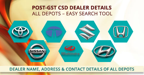 CSD Dealer List of cities with starting letter of B