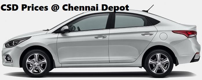 CSD Chennai Depot Car Prices 2018: (E 1.6 Diesel)