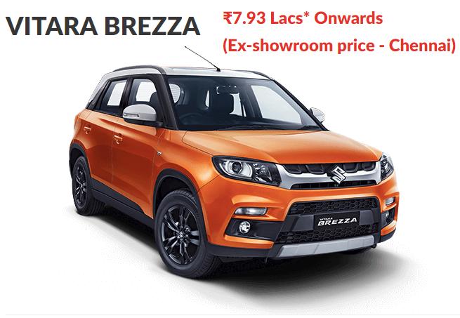 Maruti Vitara Brezza Price in Chennai Updated March 2019