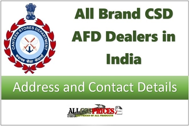 All CSD Dealers in India: Address and Contact Details
