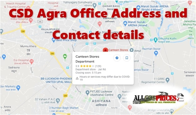 CSD Agra Office Address and Contact details