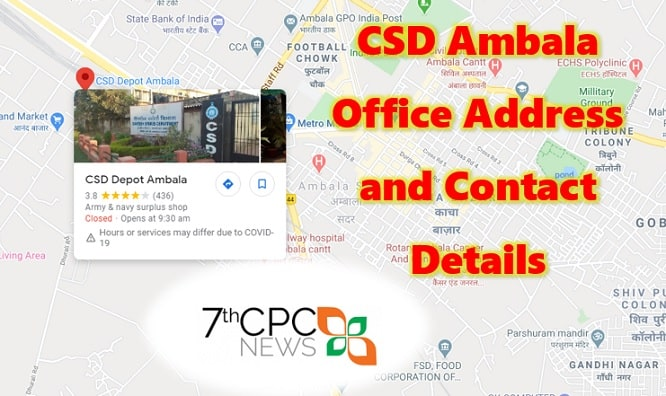 CSD Ambala Office Address and Contact Details