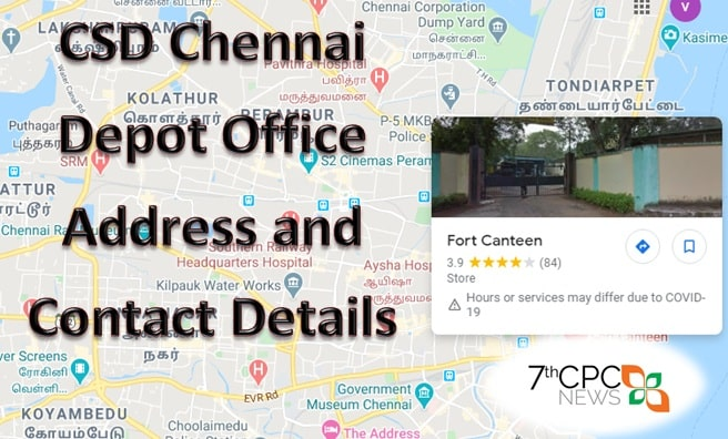 CSD Chennai Depot Office Address and Contact Details