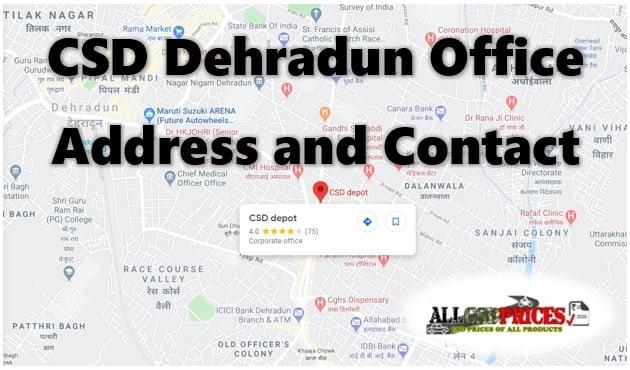 CSD Dehradun Office Address and Contact Details
