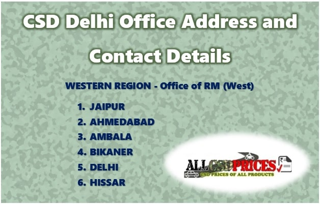 CSD Delhi Office Address and Contact Details