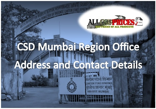 CSD Office Address and Contact Details of Mumbai Head Office