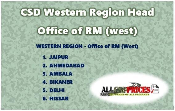 CSD Western Region Head Office of RM (west)