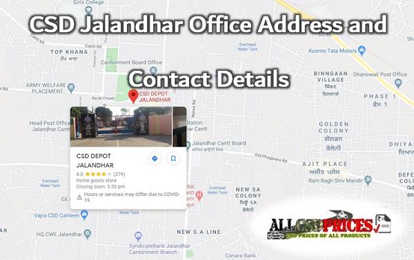 CSD Jalandhar Office Address and Contact Details