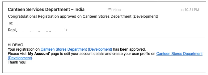 CSD Canteen Online Sales Registration
