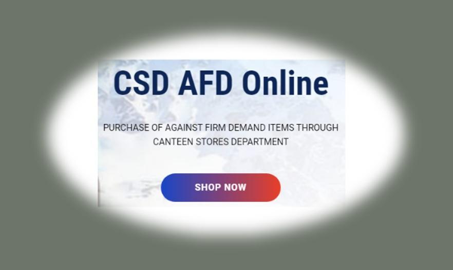 CSD Customer Registration in afd.csdindia.gov.in
