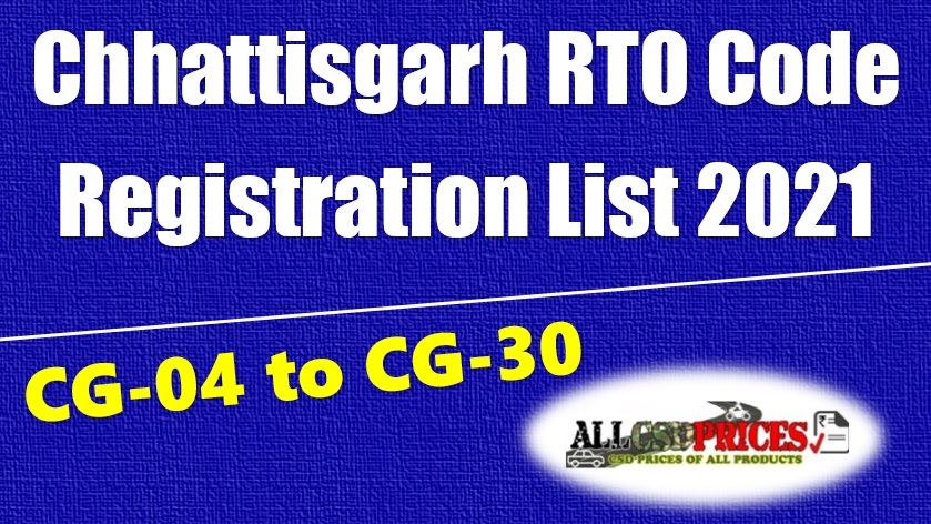 Chhattisgarh RTO Code Registration List 2021